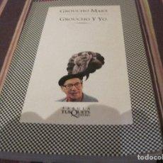 Libros de segunda mano: LIBRO-GROUCHO Y YO GROUCHO MARX TUSQUETS 1995 MEMORIAS CHISTES MONOLOGOS. Lote 113142115