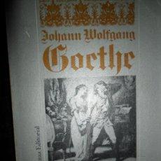 Livros em segunda mão: PENAS DEL JOVEN WERTHER, JOHANN WOLFANG GOETHE, ED. ALIANZA. Lote 114152259