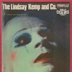 Libros de segunda mano: THE LINDSAY KEMP AND CO PARPALLO SALA ESCALANTE EN VALENCIANO AÑO1980 LL2207. Lote 115557243
