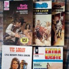 Libros de segunda mano: OESTE 11 NOVELAS SURRAY-LUGER-LINBALE-LASER-CARRADOS-GOODMAN-LOGAN NUEVO AÑOS 80. Lote 116070803