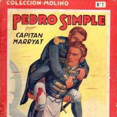 Libros de segunda mano: CAPITAN MARRYAT : PEDRO SIMPLE (MOLINO, 1942) . Lote 116380135