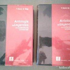 Libros de segunda mano: ANTOLOGÍA DE LEYENDAS, GARCÍA DE DIEGO. ED LABOR 1958, CON SOBRECUBIERTA DE PLÁSTCIO. Lote 116484907