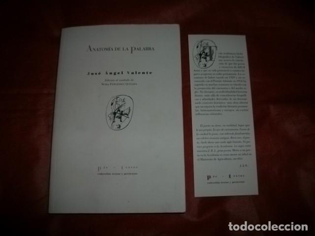 anatomía de la palabra - josé ángel valente - Comprar en ...