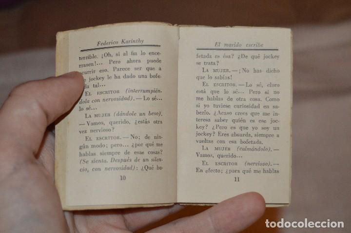 Libros de segunda mano: ANTIGUO - 1ª EDICIÓN 1941 - MINIATURA COLECCIÓN GRANO DE ARENA - EL MARIDO ESCRIBE - F. KARINTHY - Foto 8 - 118445743