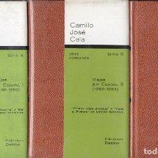 Libros de segunda mano: CAMILO JOSÉ CELA : OBRA COMPLETA TOMO 4-5-6 (DESTINO, 1976) VIAJES POR ESPAÑA. Lote 119430475