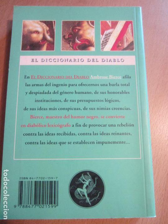 Libros de segunda mano: EL DICCIONARIO DEL DIABLO-AMBROSE BIERCE-EL CLUB DIOGENES-VALDEMAR- NUEVO - Foto 2 - 119995731