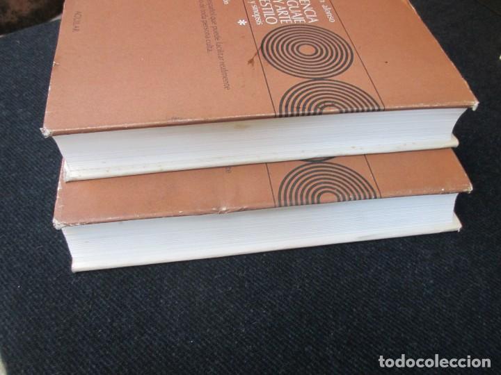 Libros de segunda mano: CIENCIA DEL LENGUAGE Y ARTE DEL ESTILO TEORIA Y SINOPSIS - MARTIN ALONSO - AGUILAR 1975 2 TOMOS + IN - Foto 4 - 121174755