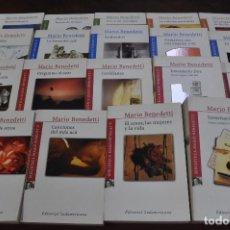 Libros de segunda mano: LOTE 19 LIBROS MARIO BENEDETTI - EDITORIAL SUDAMERICANA - NOB. Lote 121452815