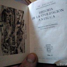Libros de segunda mano: HISTORIA DE LA CIVILIZACIÓN ANTIGUA CRISOL 47 COLECCIÓN. Lote 121521627