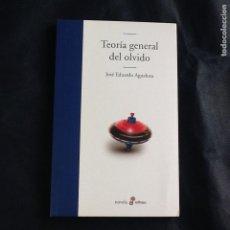 Libros de segunda mano: TEORIA GENERAL DEL OLVIDO. JOSE EDUARDO AGUALUSA. Lote 146896106