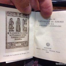 Libros de segunda mano: LA VIDA DE LAZARILLO DE TORMES Y DE SUS FORTUNAS Y ADVERSIDADES. CRISOL 010. 1956. Lote 121838471