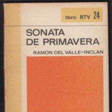 Libros de segunda mano: SONATA DE PRIMAVERA RAMON DEL VALLE INCLAN EDIT BIBILOTECA BASICA SALVAT 140 PAGINAS AÑO 1969 LL2253. Lote 122084251