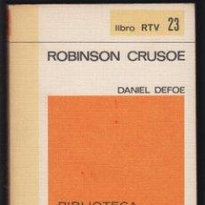 Libros de segunda mano: ROBINSON CRUSOE DANIEL DEFOE EDIT BIBLIOTECA BASICA SALVAT 226 PAGINAS AÑO 1969 LL2254 . Lote 122086619