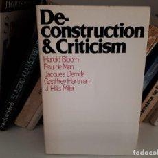 Libros de segunda mano: DECONSTRUCTION & CRITICISM - JACQUES DERRIDA, HAROLD BLOOM, PAUL DE MAN, G. HARTMAN, HILIS MILLER. Lote 122256307