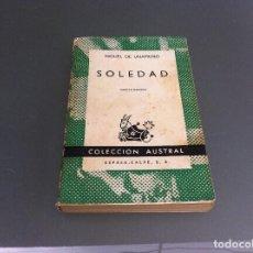 Libros de segunda mano: UNAMUNO. SOLEDAD. ED. ESPASA CALPE. Nº 570. AÑO 1968. Lote 122274523
