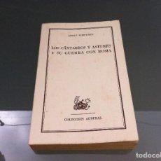 Libros de segunda mano: ADOLF SCHULTEN. LOS CÁNTABROS Y ASTURES Y SU GUERRA.... ED. ESPASA CALPE. Nº 1329. AÑO 1962. Lote 122275055