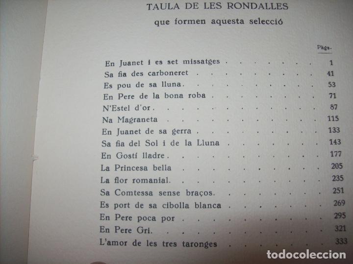 Libros de segunda mano: LES MILLORS RONDALLES DE MALLORCA. ED. MOLL. 1985. IL·LUSTRACIONS DE PRAT. EXEMPLAR NUMERAT - Foto 4 - 122628835