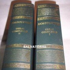 Libros de segunda mano: DOSTOYEVSKI. EDITORIAL AGUILAR. DOS TOMOS.OBRAS COMPLETAS.. Lote 124441743