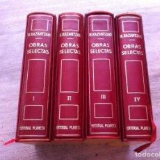 Libros de segunda mano: NIKOS KAZANTZAKI. OBRAS SELECTAS (4 TOMOS) ED. PLANETA, 1974. Lote 125829355