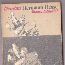 Libros de segunda mano: DEMIAN : HISTORIA DE LA JUVENTUD DE EMIL SINCLAIR / HERMANN HESSE. MADRID : ALIANZA, 1978. Lote 125869111