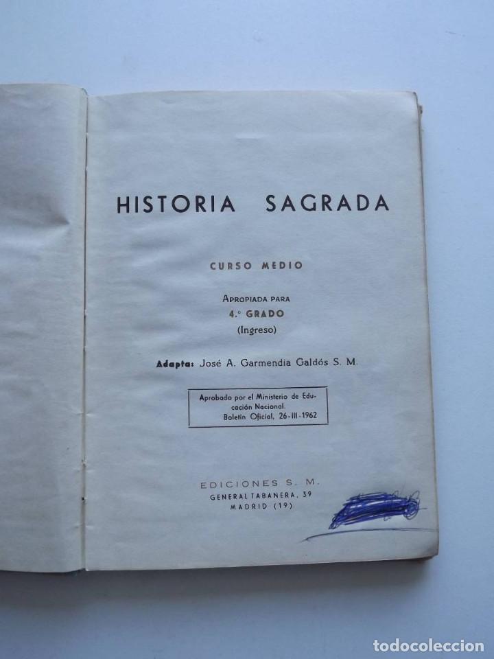 Libros de segunda mano: 1965, Historia Sagrada, Ediciones SM, 4º Grado - Foto 2 - 125916987