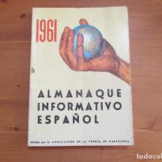 Libros de segunda mano - Almanaque informativo español 1961. Asoc. Prensa Barcelona - 126295267