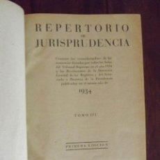Libros de segunda mano: 1934, ARANZADI, REPERTORIO DE JURISPRUDENCIA, 1934, 1. Lote 126301207
