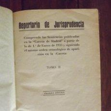 Libros de segunda mano: 1934, ARANZADI, REPERTORIO DE JURISPRUDENCIA, 1934, 2. Lote 126301251