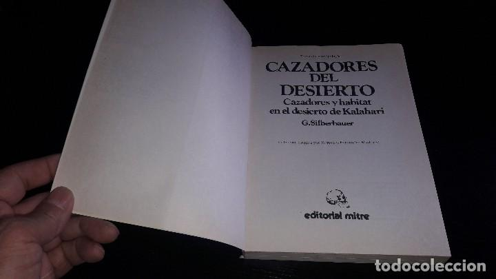 Libros de segunda mano: CAZADORES DEL DESIERTO....G. SILBERBAUER.. 1983... - Foto 2 - 127438727