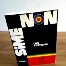 Libros de segunda mano: LOS TESTIGOS. SIMENON, GEORGES. CARALT. 1 ª ED 1965. Lote 127467371