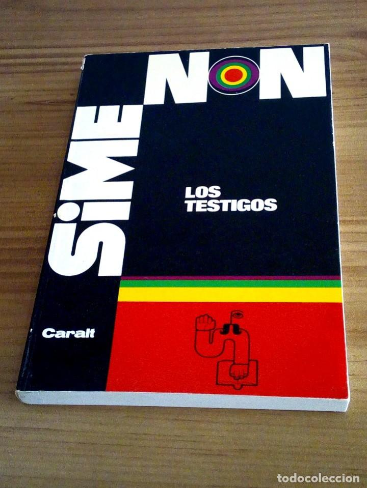 Libros de segunda mano: LOS TESTIGOS. SIMENON, GEORGES. CARALT. 1 ª ED 1965 - Foto 2 - 127467371