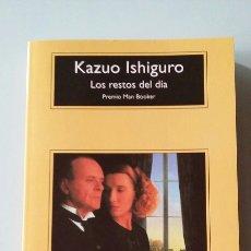Libros de segunda mano: LOS RESTOS DEL DÍA. KAZUO ISHIGURO. 1994. Lote 127522675