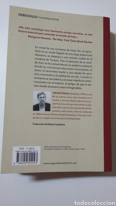 Libros de segunda mano: Nieve. Orhan Pamuk. 2011 - Foto 2 - 127530484