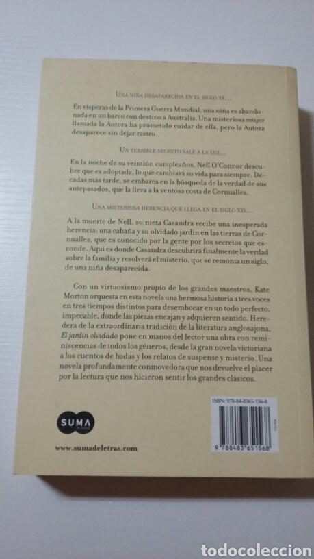 Libros de segunda mano: El jardín olvidado. Kate Morton.2012 - Foto 2 - 127887539