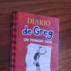 Libros de segunda mano: DIARIO DE GREG. UN PRINGAO TOTAL. JEFF KINNEY. RBA. TAPA DURA. EXCELENTE ESTADO. . Lote 128032879