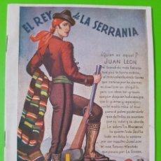 Libros de segunda mano: JUAN LEÓN EL REY DE LA SERRANÍA POR JESÚS G. RICOTE. ORIGINAL AUTÉNTICO DE LA ÉPOCA. Lote 128751511