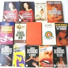 Libros de segunda mano: LOTE DE 14 NOVELAS VARIADAS POR HAROLD ROBBINS (VER TÍTULOS EN LA DESCRIPCIÓN). Lote 36301163