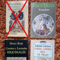 Libros de segunda mano: LOTE 3 LIBROS TAPA BLANDA - KHALIL GIBRAN - HENRY RINK - ANTONIO LORENZO. Lote 126715167
