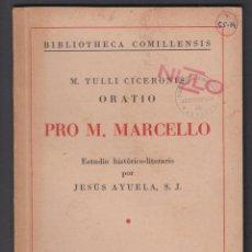 Libros de segunda mano: PRO M. MARCELLO JESUS AYUE, S.J. 31 PAGINAS SANTANDER AÑO 1941 LE2486. Lote 129688647