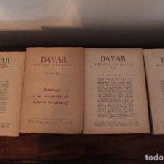 Libros de segunda mano: LOTE REVISTAS LITERARIAS DAVAR. 8 NUMEROS. INCLUYE ENVIO. Lote 130005391