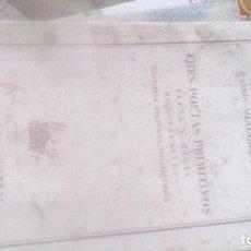 Libros de segunda mano: TRES POETAS PRIMITIVOS. R.M. PIDAL. COLECCIÓN AUSTRAL Nº 800 ESPASA CALPE. Lote 130159975