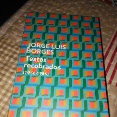 Libros de segunda mano: BORGES, TEXTOS RECOBRADOS. DEBOLSILLO 2011. Lote 130724479
