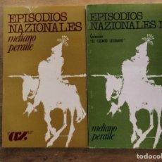 Libros de segunda mano: EPISODIOS NAZIONALES. TOMOS I Y II. MELIANO PERAILE. . Lote 131175676