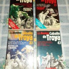 Libros de segunda mano: J.J. BENITEZ CABALLO DE TROYA 4 TOMOS N.º 1+2+3+4 ED. PLANETA RUSTICA. Lote 131201760