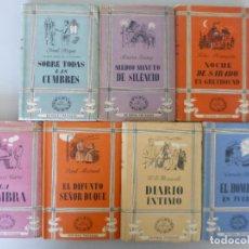 Libros de segunda mano: LOTE 7 LIBROS COLECCION SEIS DELFINES // TARTESSOS // AÑOS 40 // LITERATURA SIGLO XX . Lote 132358858