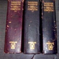 Libros de segunda mano: OBRAS COMPLETAS. 3 TOMOS - DOSTOYEVSKI, FEDOR - AGUILAR. Lote 132938150