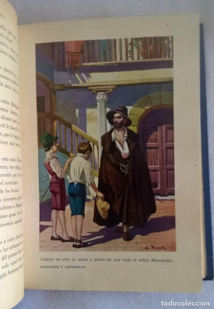 Libros de segunda mano: NOVELAS EJEMPLARES,DE MIGUEL DE CERVANTES - BIBLIOTECA HISPANIA - BARCELONA,AÑO 1948 - Foto 14 - 133176878