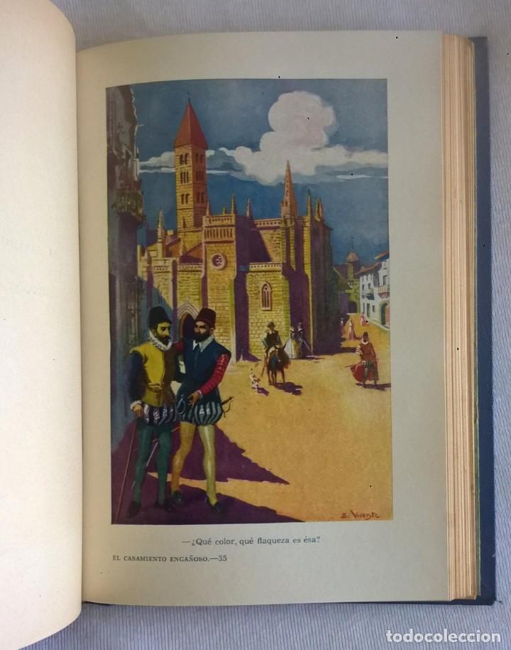 Libros de segunda mano: NOVELAS EJEMPLARES,DE MIGUEL DE CERVANTES - BIBLIOTECA HISPANIA - BARCELONA,AÑO 1948 - Foto 22 - 133176878