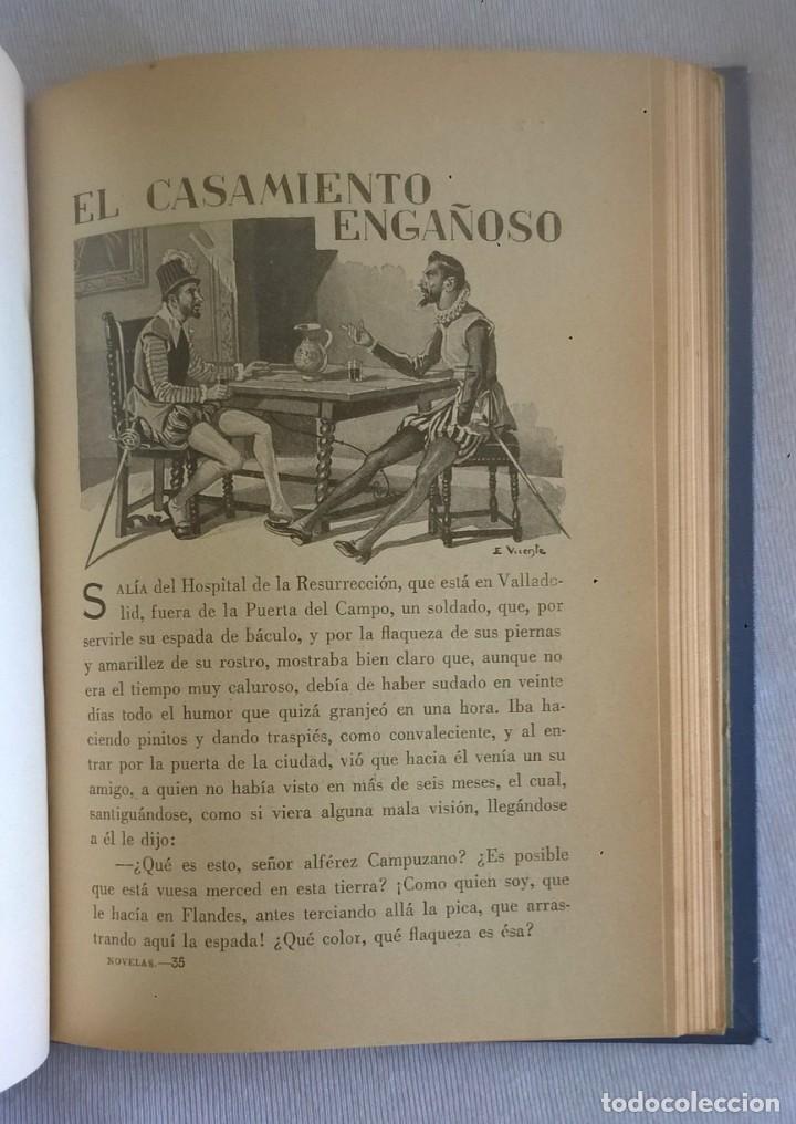 Libros de segunda mano: NOVELAS EJEMPLARES,DE MIGUEL DE CERVANTES - BIBLIOTECA HISPANIA - BARCELONA,AÑO 1948 - Foto 23 - 133176878