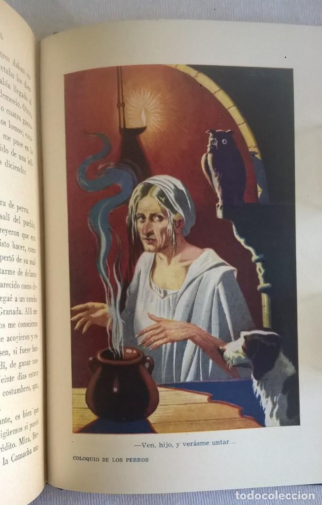 Libros de segunda mano: NOVELAS EJEMPLARES,DE MIGUEL DE CERVANTES - BIBLIOTECA HISPANIA - BARCELONA,AÑO 1948 - Foto 24 - 133176878